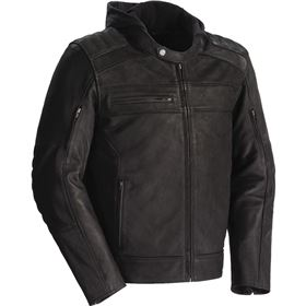 Tour Master Blacktop Hooded Leather Jacket