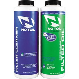 No Toil EVO Air Filter Oil and Cleaner 2 Pack Maintenance Kit
