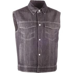 Highway 21 Iron Sights Traditional Collar Denim Vest