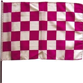 Stiffy Pink/White Checkered Flag