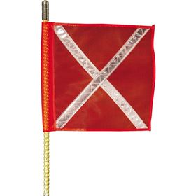 Buggy Whip 4' Quick Release Brighter L.E.D. Whip With Orange Reflective X Flag