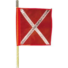 Buggy Whip 8' Quick Release Brighter L.E.D. Whip With Orange Reflective X Flag