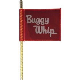 Buggy Whip 8' Threaded Brighter L.E.D. Whip With Red Buggy Whip Flag