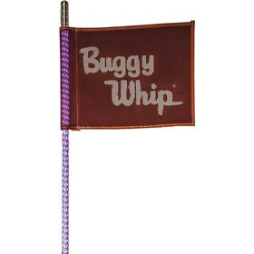 Buggy Whip 8' LED Whip w/ Red Buggy Whip Flag and Quick Release Base