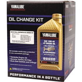 Yamalube 10W40 Hi-Performance Full Synthetic Oil Change Kit For RMAX2/RMAX4