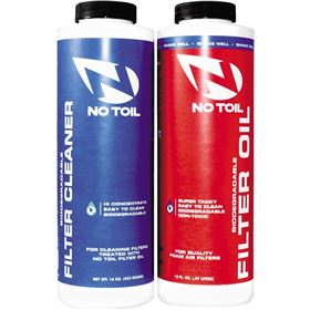 No Toil Air Filter Oil and Cleaner 2 Pack Maintenance Kit