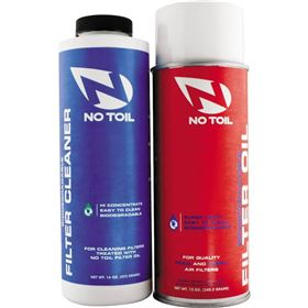 No Toil Air Filter Oil Spray and Cleaner 2 Pack Maintenance Kit