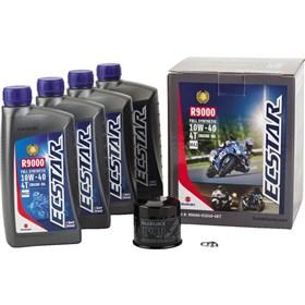 Suzuki Ecstar 4 Quart R9000 10W40 Full Synthetic Oil Change Kit
