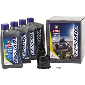 Suzuki Ecstar 4 Quart R7000 10W40 Semi-Synthetic Oil Change Kit