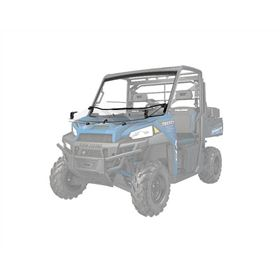 Polaris Lock And Ride Pro Fit Hard Coat Poly Flip Down Windshield