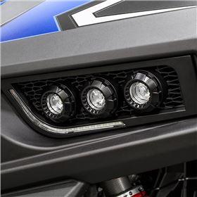 Polaris Trailblazer LED Adjustable Headlights - Black