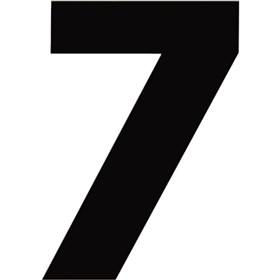 N-Style 6 1/2 in #7 Numbers - 3 Pack, Black