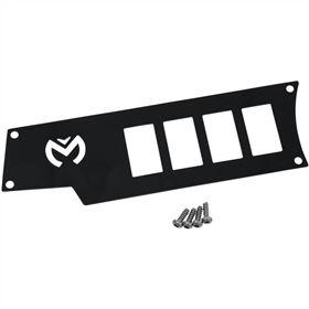 Moose Utility Small 4 Switch Dash Plate - Left - Black