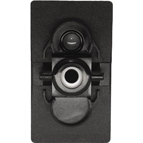 XTC Power Products Single Accessory Rocker Switch Body With Incandescent Backlight