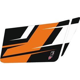 Dragonfire Racing LoBoy Orange Maddness Door Graphic Kit