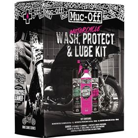 Muc-Off Motorcycle Wash, Protect and Lube Kit