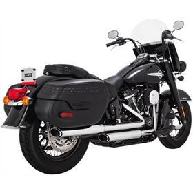 Vance And Hines Twin Slash Oval Slip-On Exhaust System