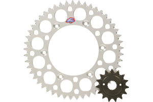 Gearing up, like with a smaller rear sprocket, decreases the final drive ratio and adds more top speed to your motorcycle or ATV.