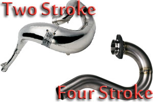 Examples of 2 Stroke and 4 Stroke Exhausts