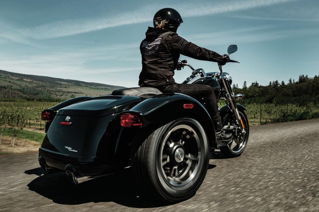 2015 Harley Davidson FLRT Freewheeler with Blue Sky Background