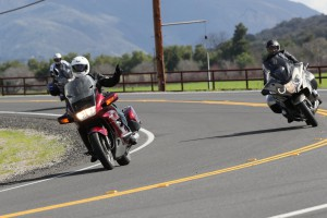Bill out testing the new Roadsmart III's with the Dunlop team and some other invited riders.