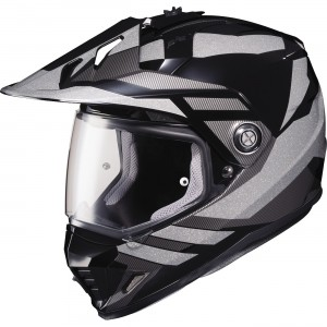 HJC DS-X1 Lander Reflective Dual Sport Helmet - $189.99 Lightweight advanced polycarbonate compact comfortable shell. Advanced Channeling Ventilation System (ACS) allows great airflow. Easy to convert from shield and visor to visor only helmet.