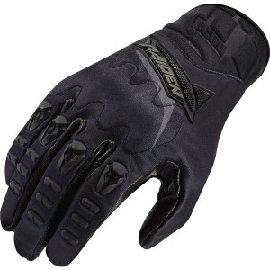 Icon Raiden UX Textile Gloves - $50.00 Icon's proprietary one piece leather palm, it has no seams or stitches to get in the way. Welded TPR finger details. D3O knuckle inserts. Debossed neoprene cuff.