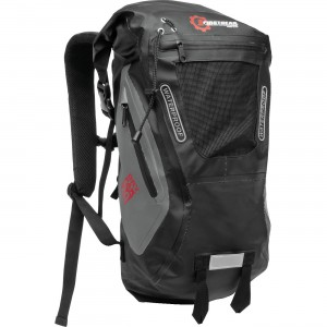 Firstgear Torrent Waterproof Backpack Waterproof backpack with air mesh pad. Adjustable, ergonomic straps. 20 liter capacity. Straps designed to work with your riding jacket.