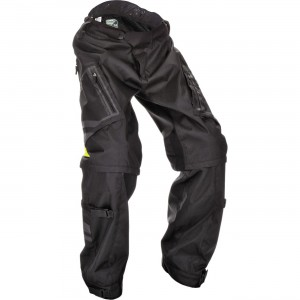 Fly Racing Patrol Pants Riding pants that can convert into shorts. Stretch rib panels strategically placed for flexibility. Six large zippered vents. Over boot style provides a comfortable fit and easy on/off.