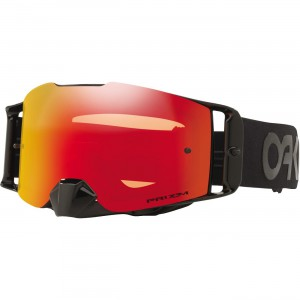 Oakley Front Line Prizm Factory Pilot MX Goggles High impact goggles with a large to medium sized fit. Ridgelock Lens Technology for completely sealed rimless look and quick lens changing capability. Works with Oakley Prizm Lenses.