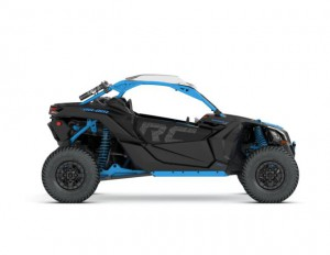 2018 Maverick X3 X rc TURBO R Carbon Black and Octane Blue_side right_jpg