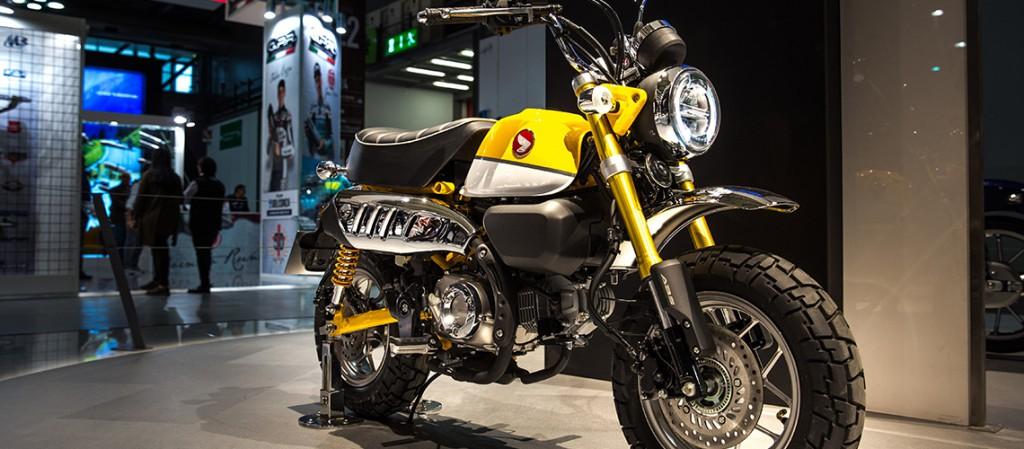 Yellow Honda Monkey on Display