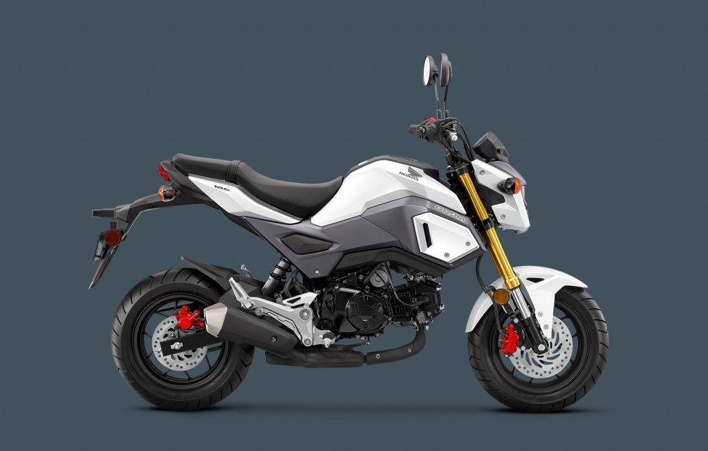 White Honda Grom